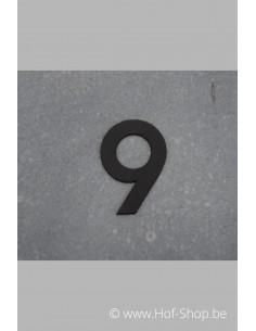 Nummer 9 - zwart inox 5 cm hoog