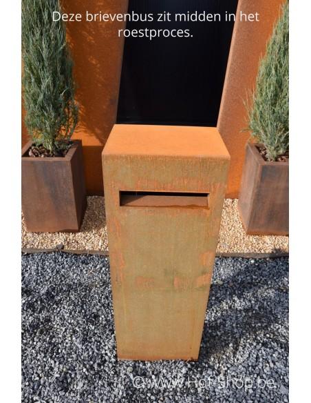 Verma - brievenbus cortenstaal