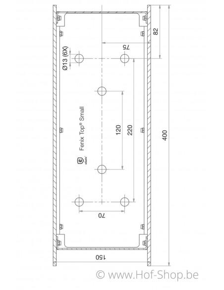 Fenix Top Small - pakketbus aluminium