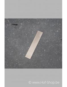 Schuine streep - inox 8 cm hoog