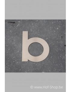 Letter B - inox 8 cm hoog