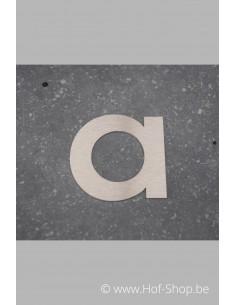 Letter A - inox 8 cm hoog