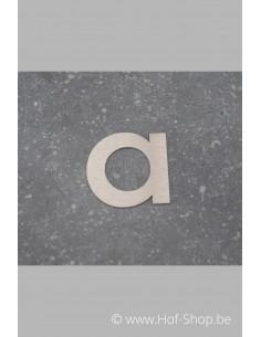 Letter A  - inox 5 cm hoog