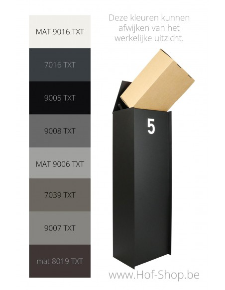 eSafe-Dropbox-Small-RAL-kleuren