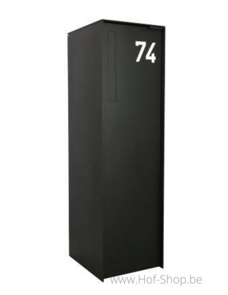 Nummer 0 - wit aluminium 10 cm hoog