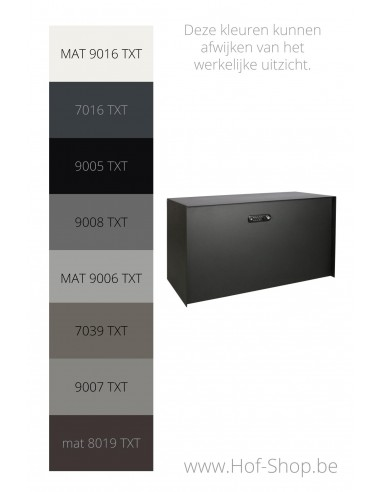 Bulkbox met RAL-kleur - XXL pakketbus aluminium