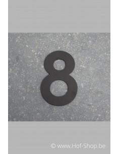 Nummer 8 - zwart 8 cm hoog