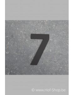 Nummer 7 - zwart 8 cm hoog