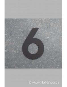 Nummer 6 - zwart 8 cm hoog