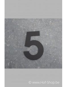 Nummer 5 - zwart 8 cm hoog