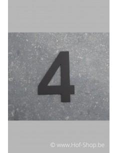 Nummer 4 - zwart 8 cm hoog