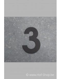 Nummer 3 - zwart 8 cm hoog