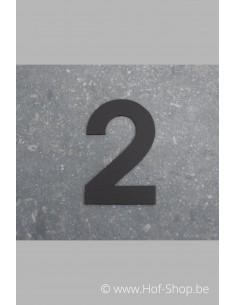Nummer 2 - zwart 8 cm hoog