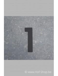 Nummer 1 - zwart 8 cm hoog