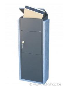 Torino Big Parcel antraciet - brievenbus arduin VASP