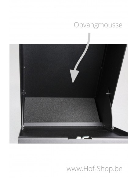 Dropbox Cortenstaal Look - pakketbus aluminium eSafe