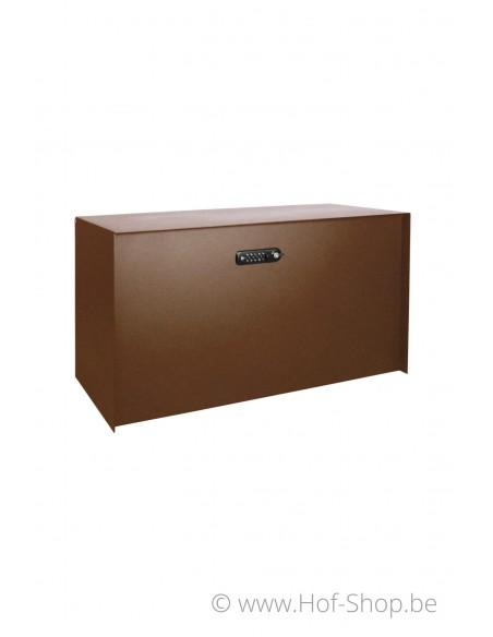 Bulkbox - XXL Cortenstaal Look - pakketbus aluminium eSafe