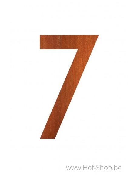 Huisnummer cortenstaal