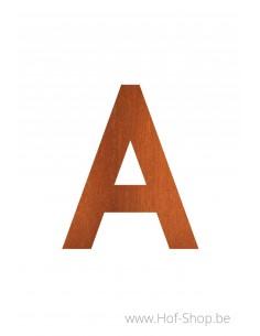 Letter huisnummer cortenstaal