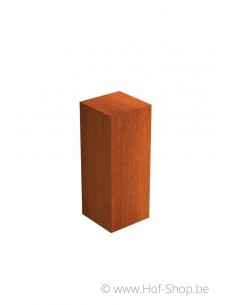 Sokkel Pedestal 40x40x100 - zuil in cortenstaal