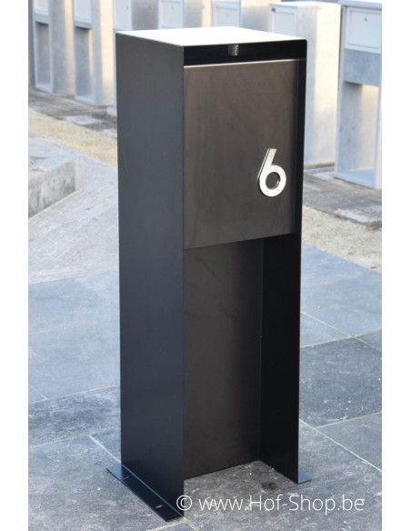 Nummer RVS - inox 12 cm hoog