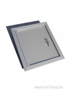 Alu deur 30 x 34 cm - brievenbusdeur aluminium