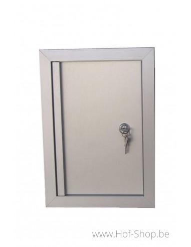 Alu deur 24 x 34 cm - brievenbusdeur aluminium