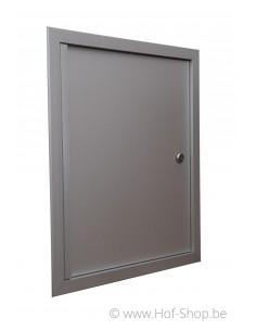 Alu deur 42 x 50 cm - brievenbusdeur aluminium