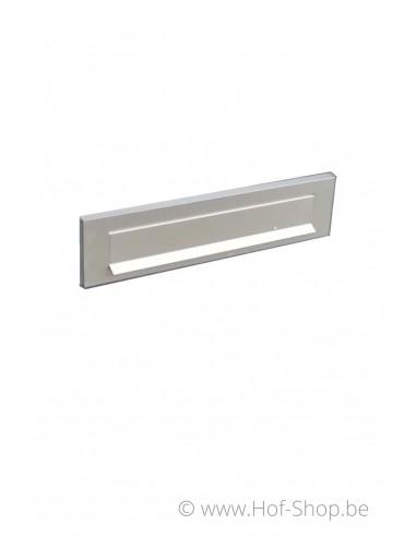 Alu klep met veer - 29 x 7,3 cm - briefplaat aluminium