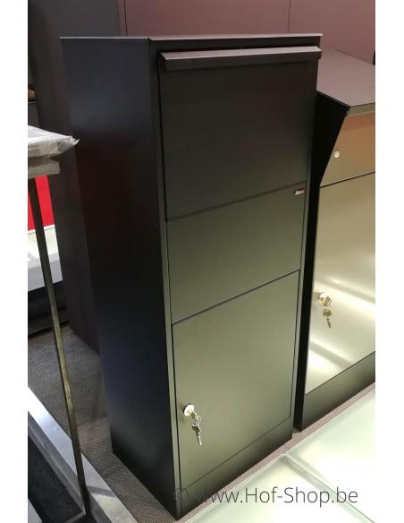 Allux 800 Large zwart Front Door - pakketbus