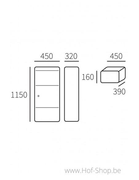 Allux 800 Large S Front Door - pakketbus