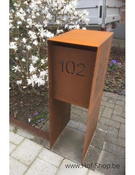 Carta - brievenbus cortenstaal