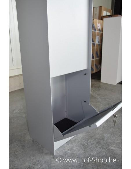Dropbox Small RAL 9006 - pakketbus aluminium