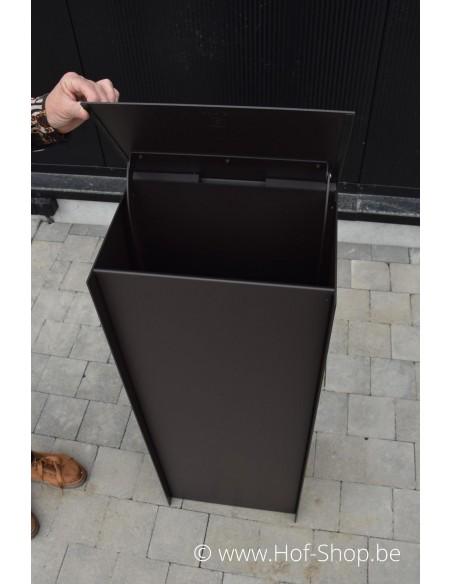 Dropbox Small RAL 8019 - pakketbus aluminium