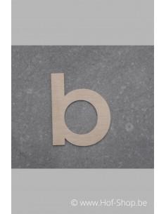 Letter B - inox 5 cm hoog
