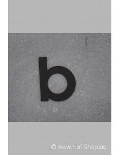 Letter B - zwart inox 5 cm hoog