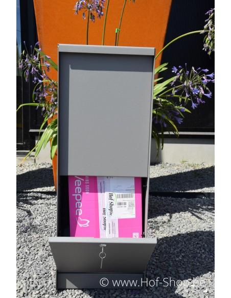 Dropbox Small RAL 9007 - pakketbus aluminium