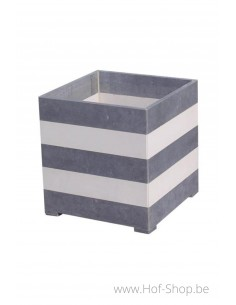 Square Modern B/W 40 x 40 x 42 cm - Plantenbak in arduin