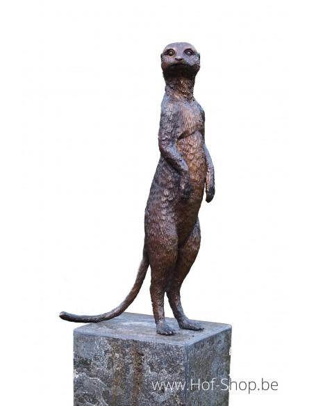 Stokstaartje - bronzen beeld