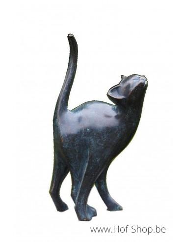 Moderne kat - bronzen beeld