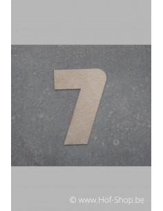 Nummer 7 - inox 7 cm hoog (Bahamas)