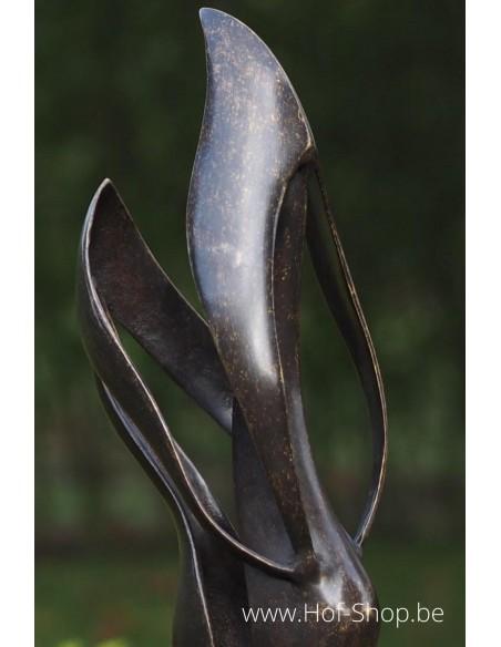 Modern Liefdespaar - bronzen beeld