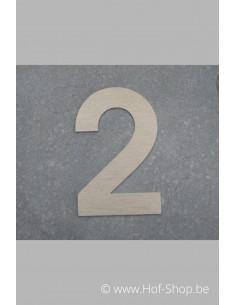Nummer 2 - inox 8 cm hoog