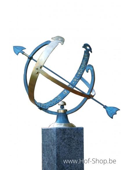 Zonnewijzer (groot) - bronzen beeld