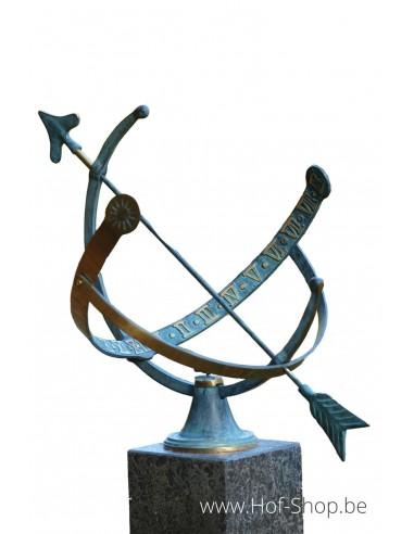 Zonnewijzer (medium) - bronzen beeld