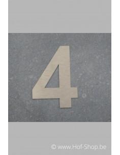 Nummer 4 - inox 8 cm hoog
