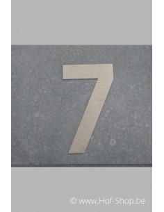 Nummer 7 - inox 8 cm hoog