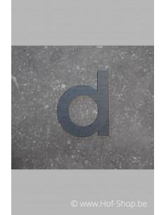 Letter D - inox 5 cm hoog (Fuji)