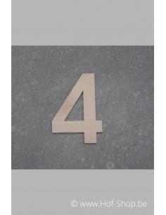 Nummer 4 - inox 5 cm hoog