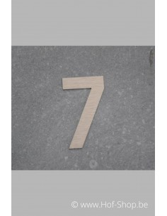 Nummer 7 - inox 5 cm hoog
